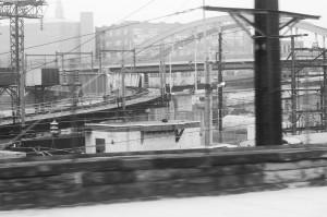 Jumble of bridges, tracks, and lines