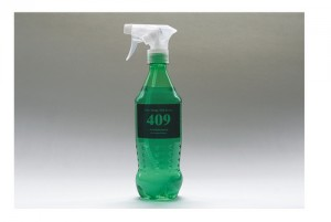 All-purpose cleaner in old Sprite soda bottle