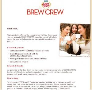 Brew Crew Email
