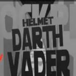 Star Wars Words Helmet Darth Vader