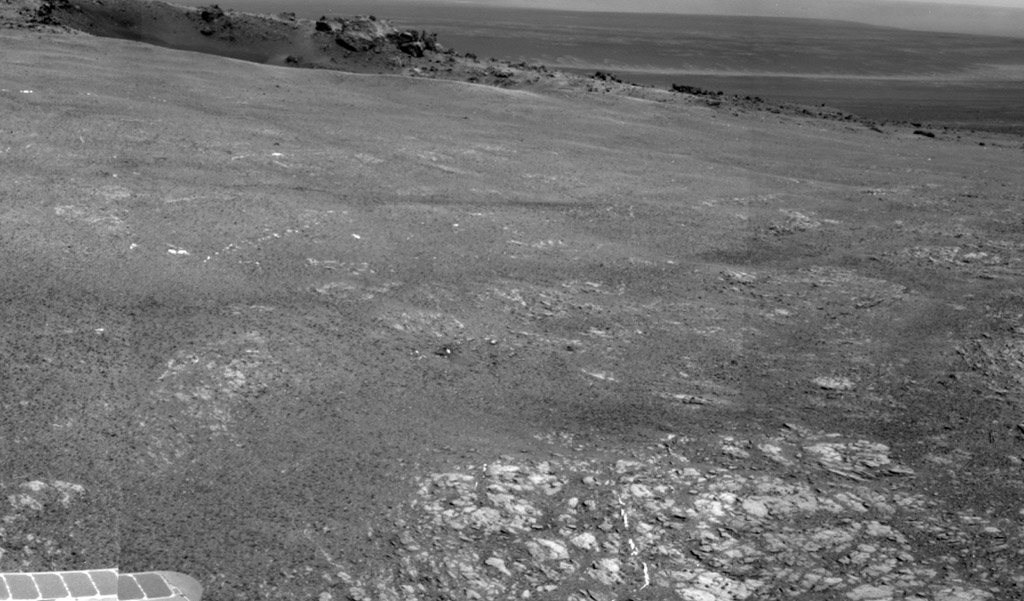 Botany Bay on the planet Mars rocks and dust