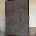 poster size frame with stripped material in it