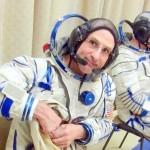 Astronaut Petit in space suit