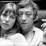 Jane Birkin and Serge Gainsbourg black and white