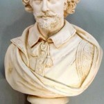 white bust of William Shakespeare