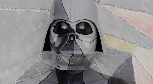 Darth Vader Mask painted