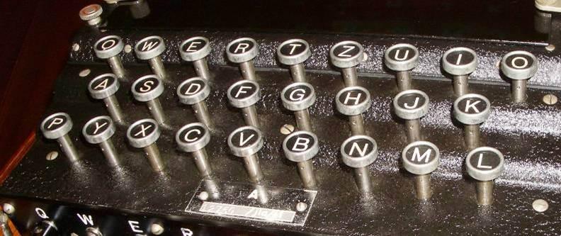 QWERTZUI Enigma Machine keyboard