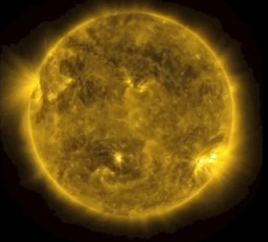 A picture of our Sun