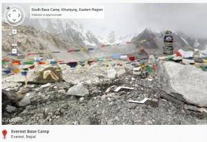 Shot of Mt Everest Base Camp, Nepal from Google Street View