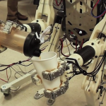 Robot pours drink
