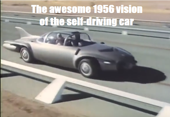 The 1976 car of the future envisioned in 1956