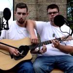 Laurier Lachance and Felix Desroches cover Eminem rap on a guitar