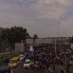 Refugees at Hungarian Serbian border