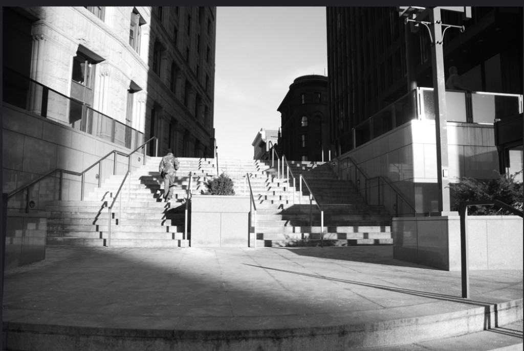 Downtown Baltimore Maryland steps