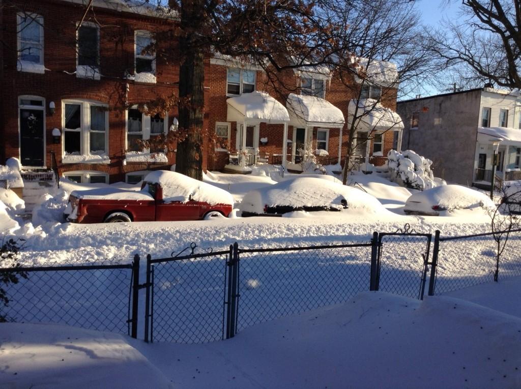 Historic Baltimore Blizzards: Jan. 2016: Snowy Homestead St.: Baltimore, MD
