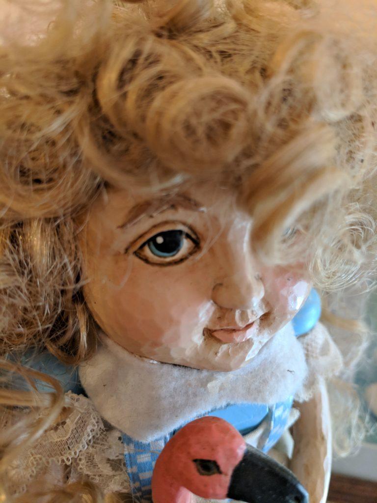 Close up of Alice In Wonderland nutcracker